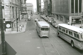 Streetcar in 1950s