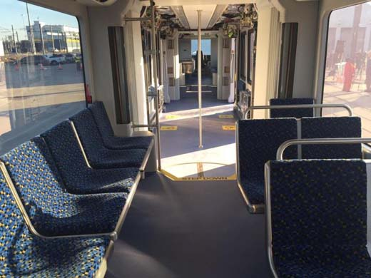 Dallas streetcar interior