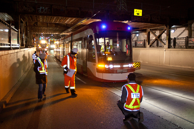 Toronto Flexity being tested